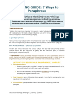 J. Writing Guide 7 Ways to Paraphrase3