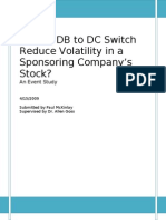 Do DB to DC Switches Reduce Risk for the Sponsor?