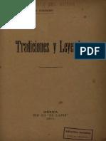 Tradiciones y Leyendas Tulio Febres Cordero