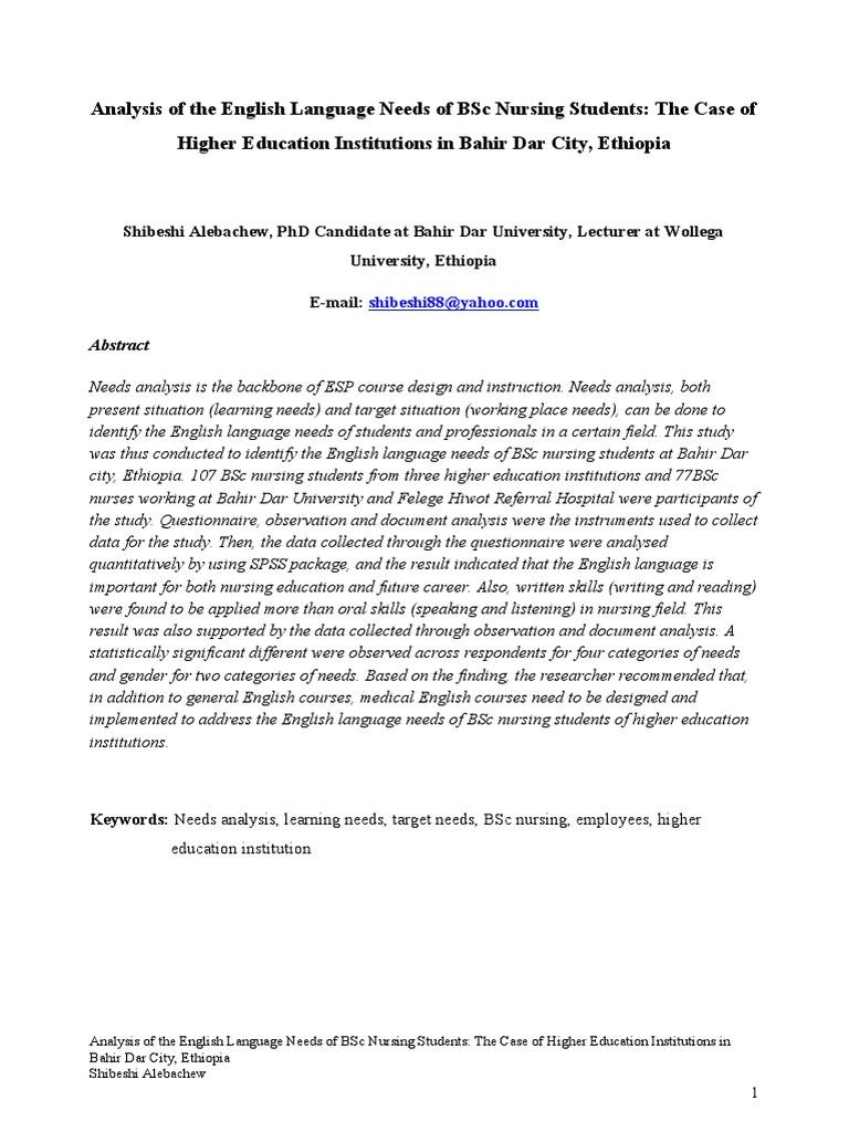 Shibeshi pdf | Nursing | Patient