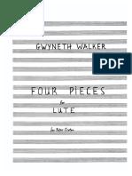 Gwyneth Walker - 4 Pieces for Lute