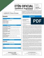 Boletín Oficial de la República Argentina, Número 33.549. 20 de enero de 2017