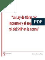 PDF 58590 MEF Ley de Obras Por Impuestos Rol Del SNIP