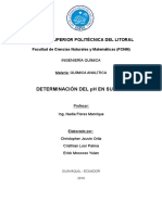 Determinacion de Ph Proyecto de Analitica