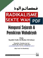 Buku Radikalisme Sekte Wahabiyah