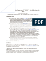 Decreto Supremo 1101 Modifica Ds 26143 Venta Sin Consentimiento Del Propietario