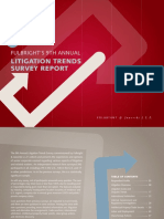 9th Annual Litigation Trends Survey Findings 2013 Fulbright Forum