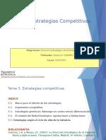Tema 5 Estrategias Competitivas
