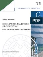 Estonianism in a Finnish Organization