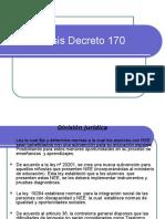Análisis Decreto 170