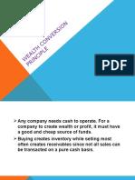 Wealth Conversion Principle
