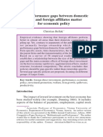 Bellack (2004) How Performance Gaps Between Domestic and Foreign Affiliates Matter