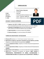 CV Dionel Triveños Valenzuela