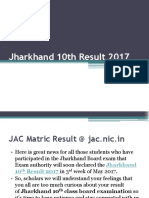Jharkhand 10th Result 2017