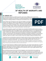IFMSA and IPSF Health of Migrants and Refugees