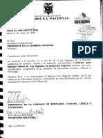 Proyecto Ley Orgánica Educación Superior (doc actualizado)