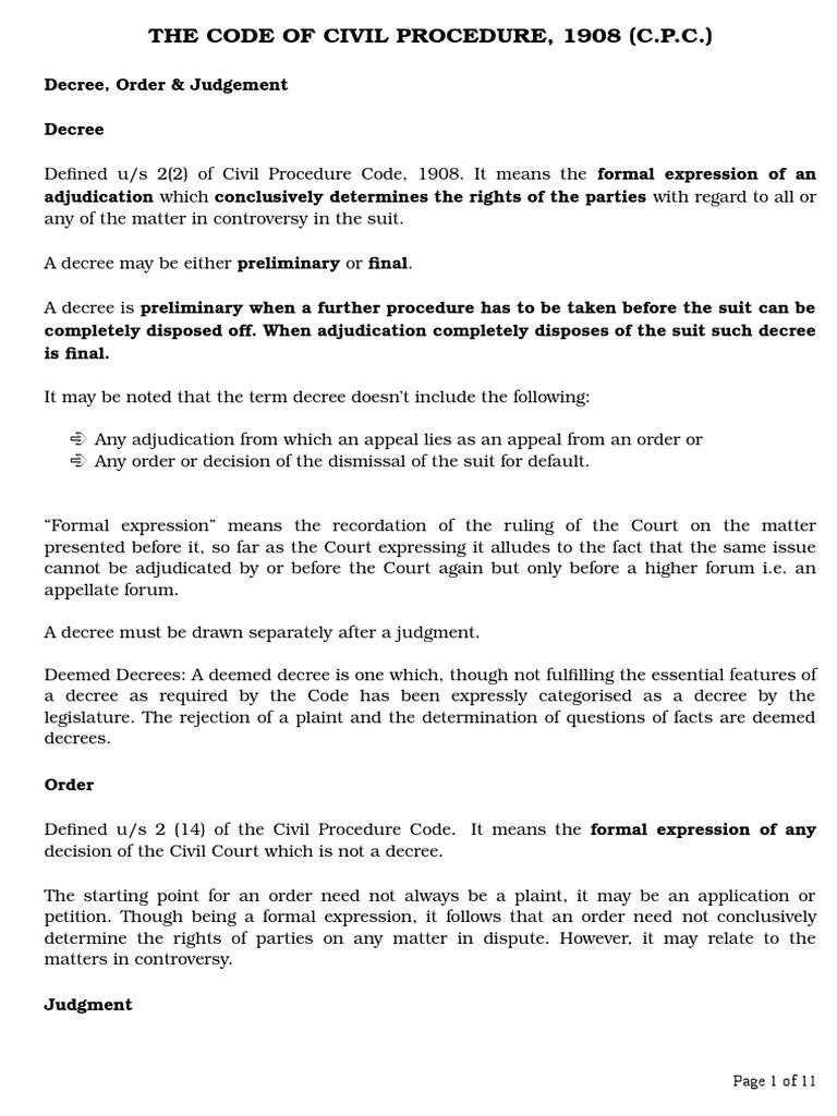 civil procuder code-2 | judgment (law) | lawsuit