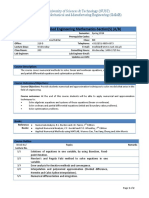 Course Outline - MSME