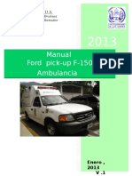 Manual Ambulancia Ford Pick-up F-150