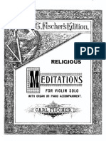 Religious Meditations (Piano Part)