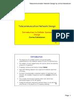Telecommunication Network Design - Introduction to Cellular System Design