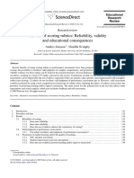 2007 the Use of Scoring Rubrics Reliability Validity An