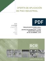 Propuesta de piso industrial con fibra de acero - Rinol Bolivia