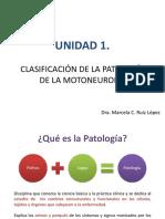UNIDAD 1. CLASIFICACIÓN DE LA PATOLOGÍA DE LA MOTONEURONA