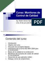 Monitores Control de Calidad Sesion 1