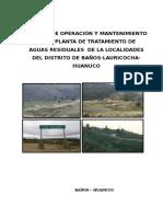 Manual de Operacion y Mantenimiento de La Planta de Tratamiento de Aguas Residuales