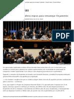 Sancionada Lei Que Altera Regras Para Remanejar Orçamento — Senado Federal - Portal de Notícias