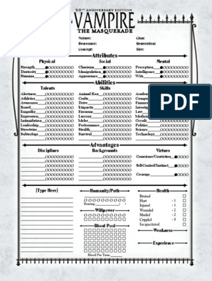 V20 4-Page Antediluvian Interactive | Role Playing Games | Gaming