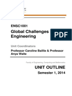 ENSC1001 Unit Outline 2014