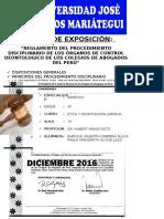 Trabajo Reglamento Del Procedimiento Disciplinario- Imprimir