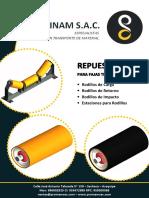 Brochure PROINAM SAC Rodillos - Repuestos para Faja Transportadora