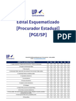 Edital Esquematizado PGE SP 2