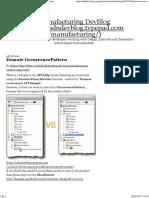Demote OccurrencePattern - Manufacturing DevBlog