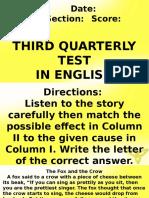 3rd Periodic Test ENGLISH