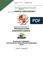 Plan de Admision Agro 2016