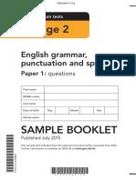 Sample Ks2 EnglishGPS Paper1 Questions