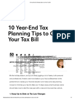 10 Year-End Tax Planning Tips to Cut Your Tax Bill