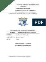 Trabrajo de Procesos Organizacionales Tarea 2 Por Jonathan Arias