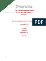 Final Structural Mechanics Course Work