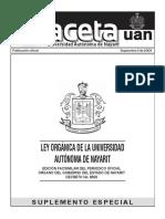 Ley Organica de La UAN