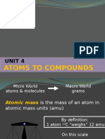 Unit 4 Atoms to Molecules