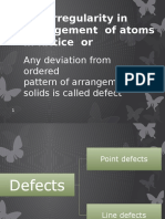 Defects in Solid s