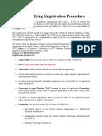 GST- Simplifying Registration Procedure