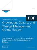 The Bulgarian Orthodox Church as a Norm Entrepreneur in the Europeanization of Bulgaria