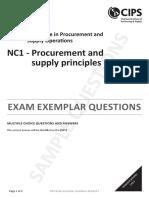 NC1 Principles Multiple Choice Questions