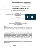 KNOWLEDGE MANAGEMENT AND PERFORMANCE IN MANUFACTURING FIRMS